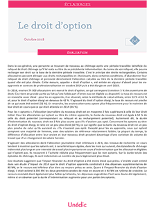 couverture de la note d'analyse sur le droit d'option de l'Unédic