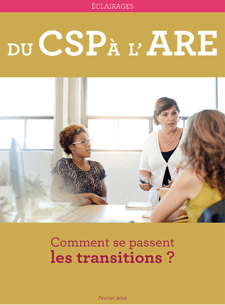 "image de couverture de l'étude ""Du CSP à l'ARE : comment se passent les transitions ?"""