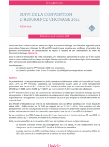 Indicateurs de suivi de la convention d'assurance chômage 2014 - 4ème trimestre 2018